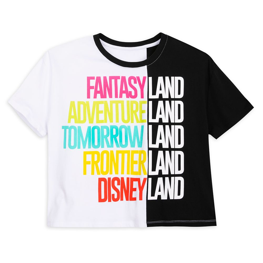 Disneyland Color Block Text T-Shirt for Women