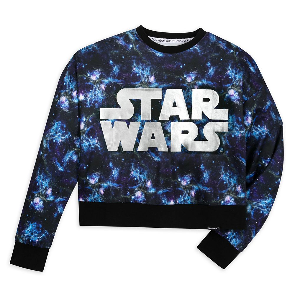Star Wars Galaxy Cropped Pullover Top for Women by Her Universe