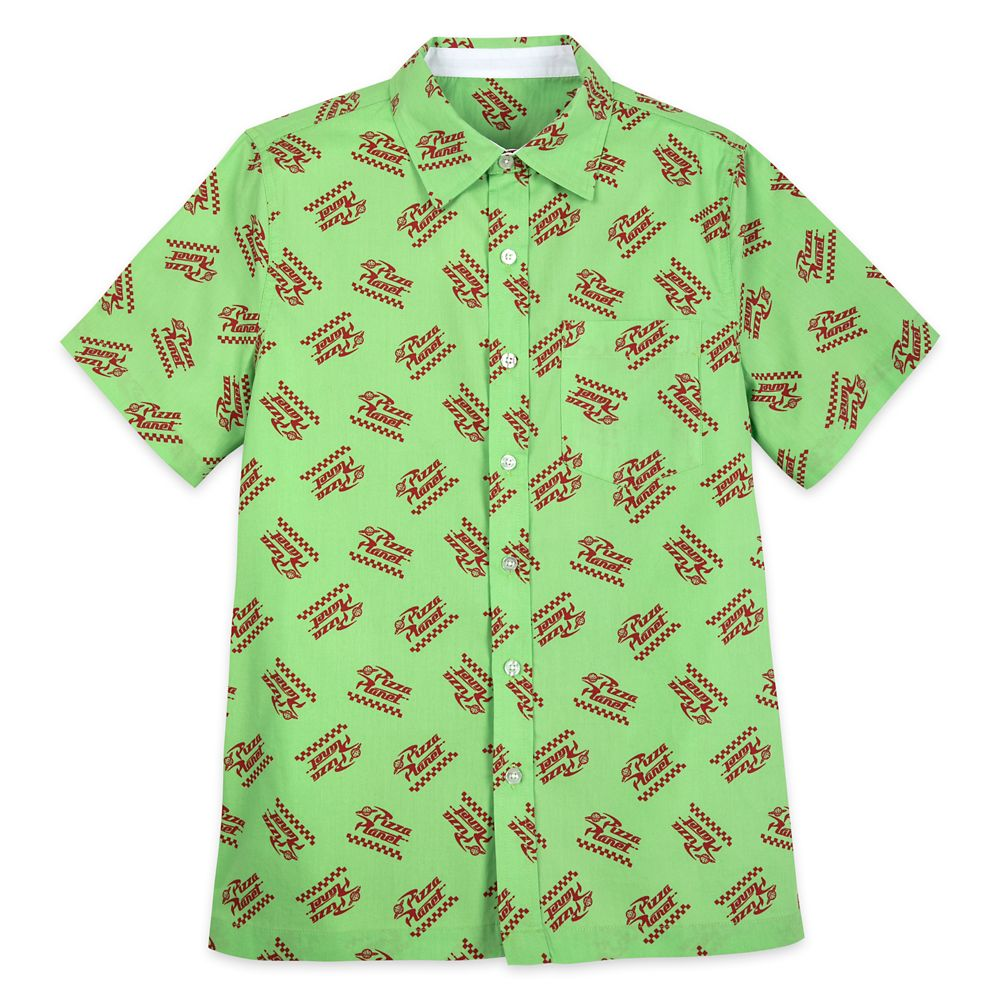 Pizza Planet Logo Woven Shirt for Men – Toy Story