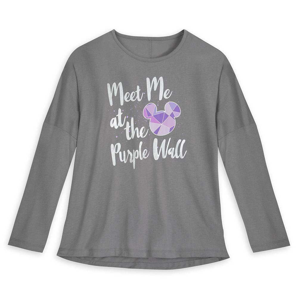 Purple Wall Long Sleeve T-Shirt for Women – Walt Disney World