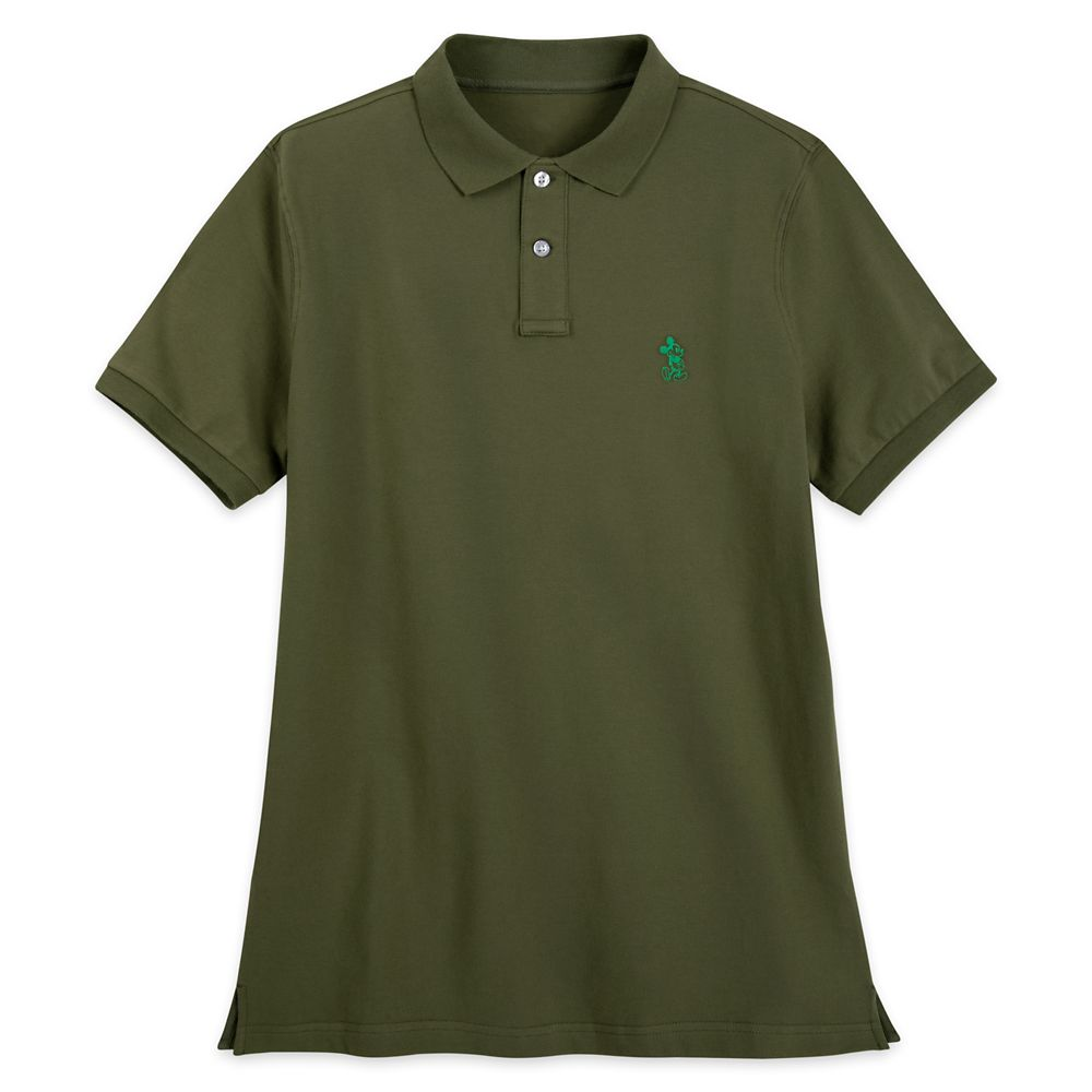 Mickey Mouse Polo Shirt for Men – Olive