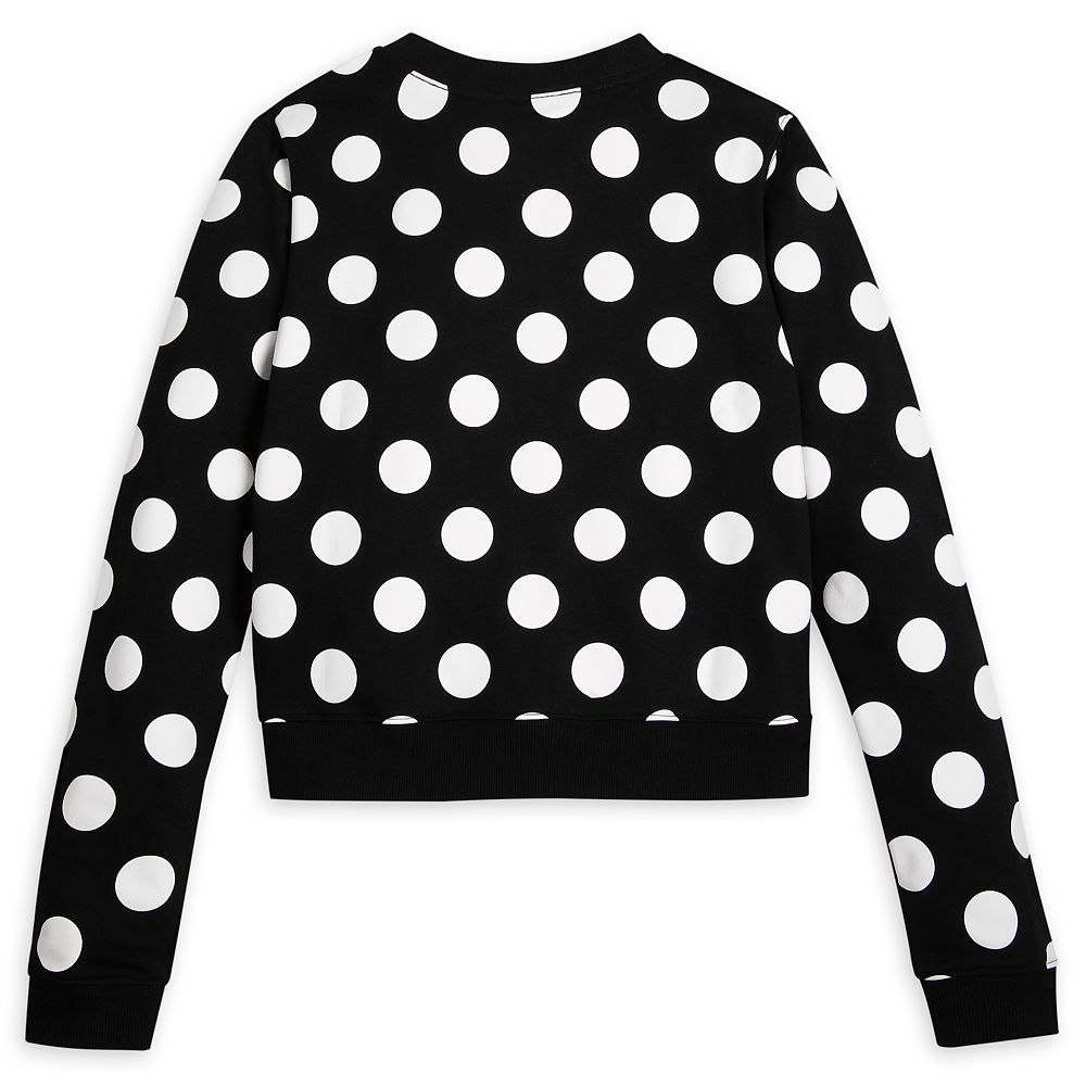 Minnie Mouse Cropped Pullover Sweatshirt for Women