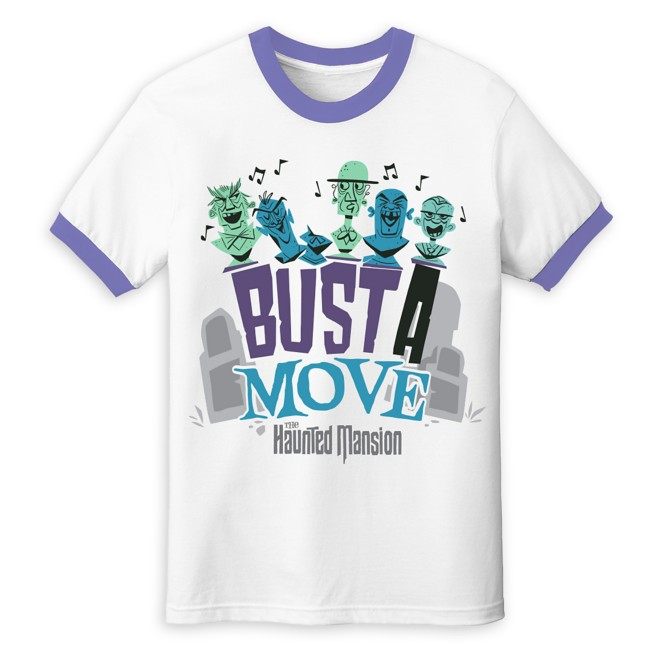 The Haunted Mansion Singing Busts Ringer T-Shirt for Adults