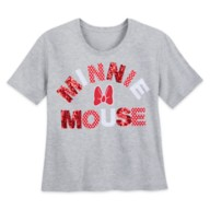 Minnie Mouse Red Sequin T-Shirt for Women