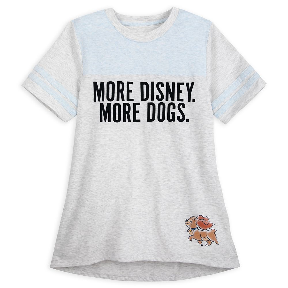 Lady ''More Disney. More Dogs'' T-Shirt for Women – Lady and the Tramp