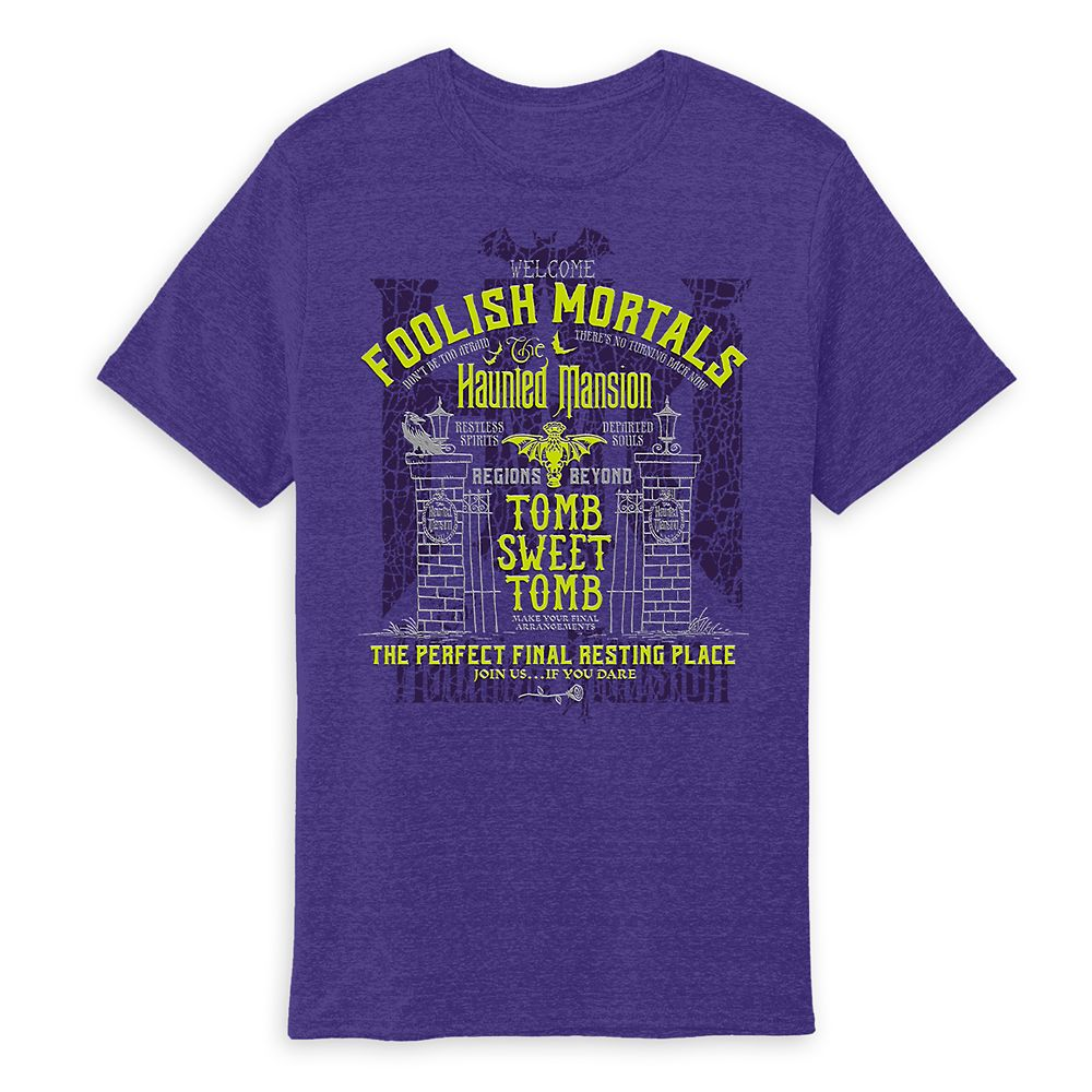 The Haunted Mansion Text T-Shirt for Adults