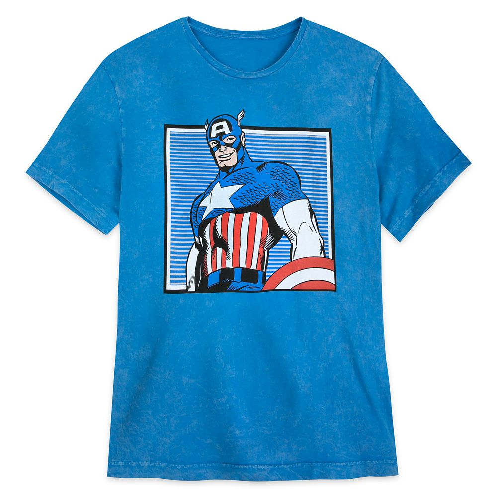 Captain America Comic Book Art T-Shirt for Men