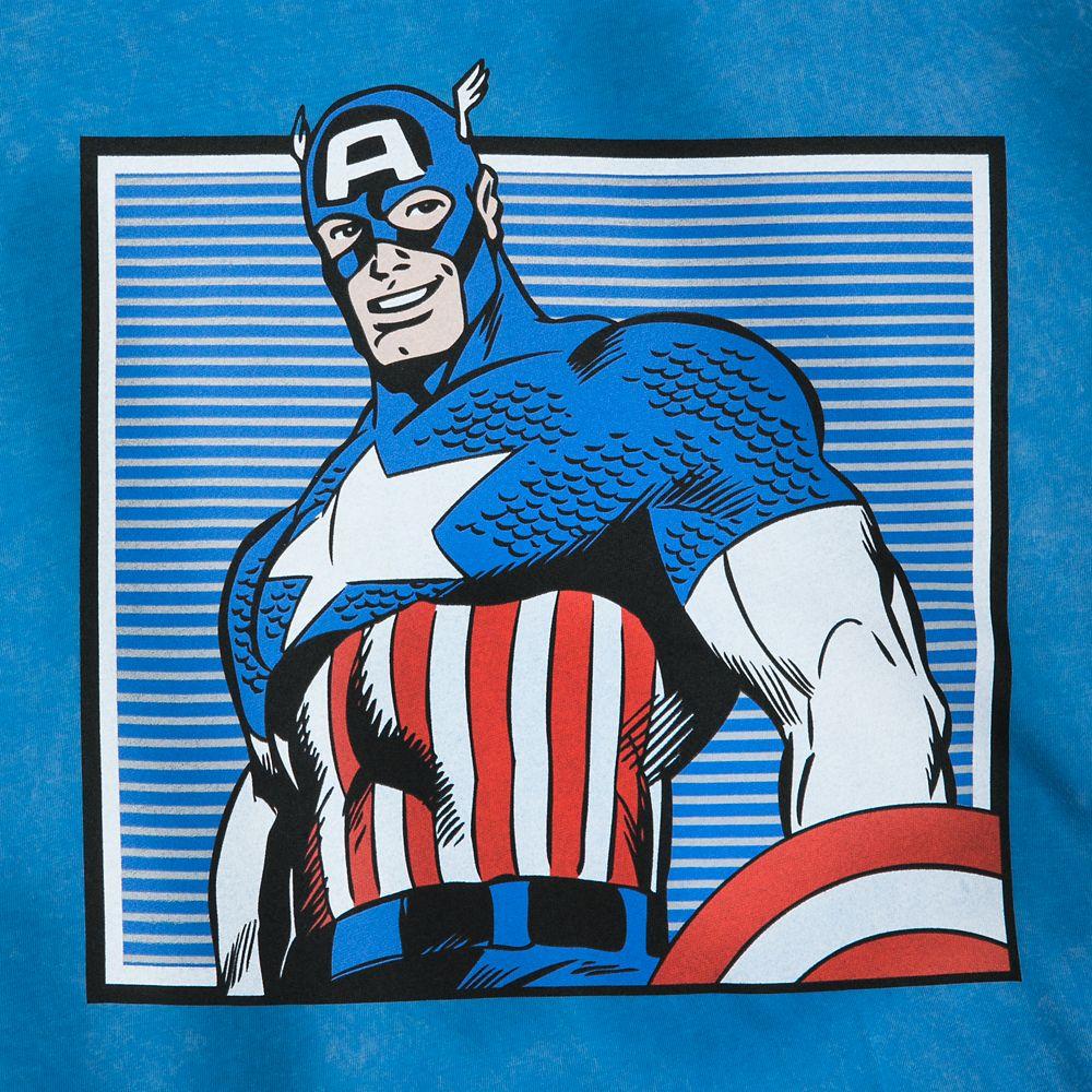 Captain America Comic Book Art T-Shirt for Men