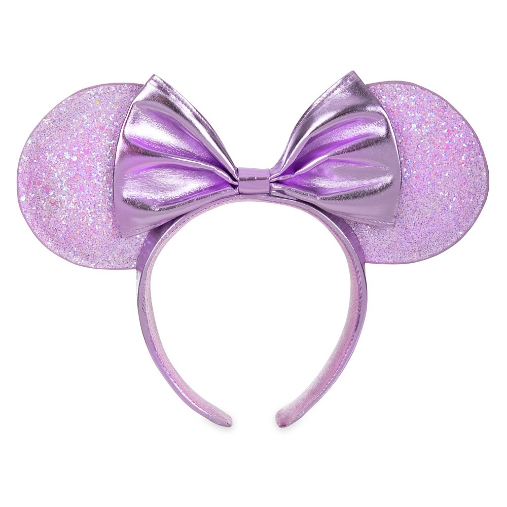 Minnie Mouse Metallic Ear Headband with Bow  Lilac Official shopDisney
