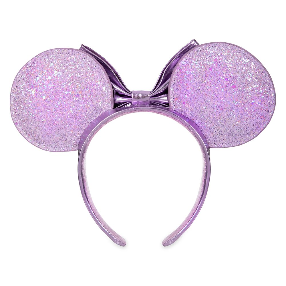 Minnie Mouse Metallic Ear Headband with Bow – Lilac