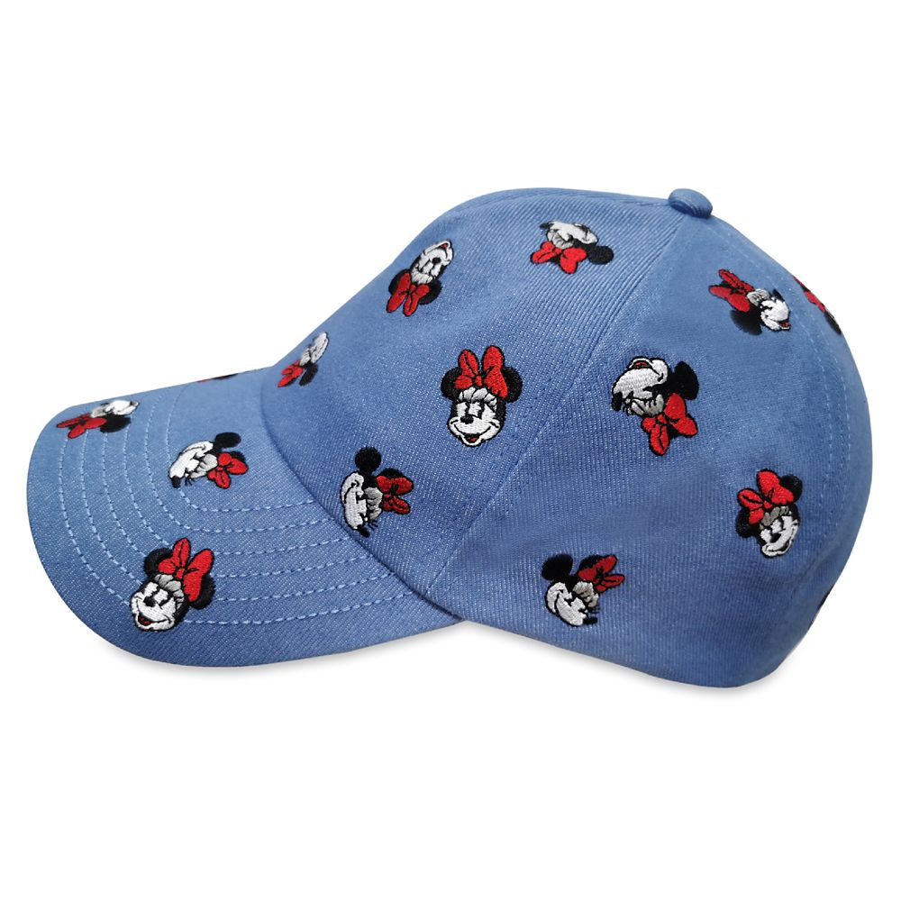 Minnie Mouse Denim Baseball Cap for Adults