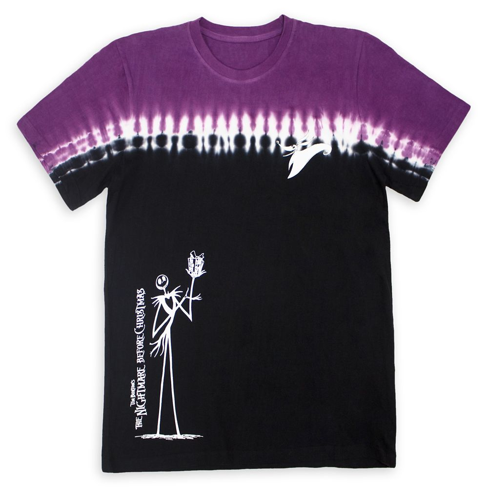 Jack Skellington and Zero Tie-Dye T-Shirt for Adults