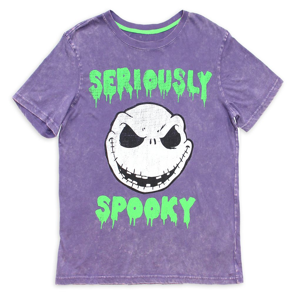 Jack Skellington Acid Wash T-Shirt for Adults