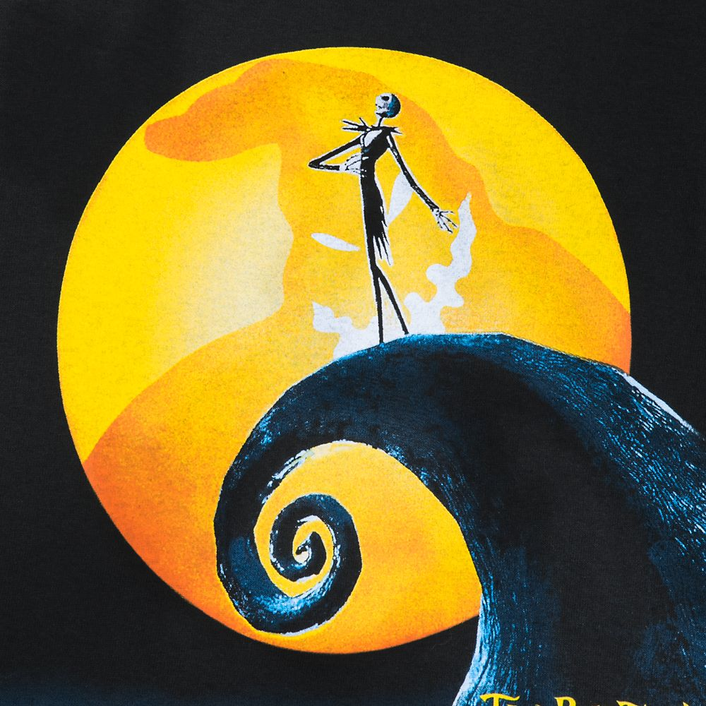Tim Burton's The Nightmare Before Christmas Movie Poster T-Shirt for Adults
