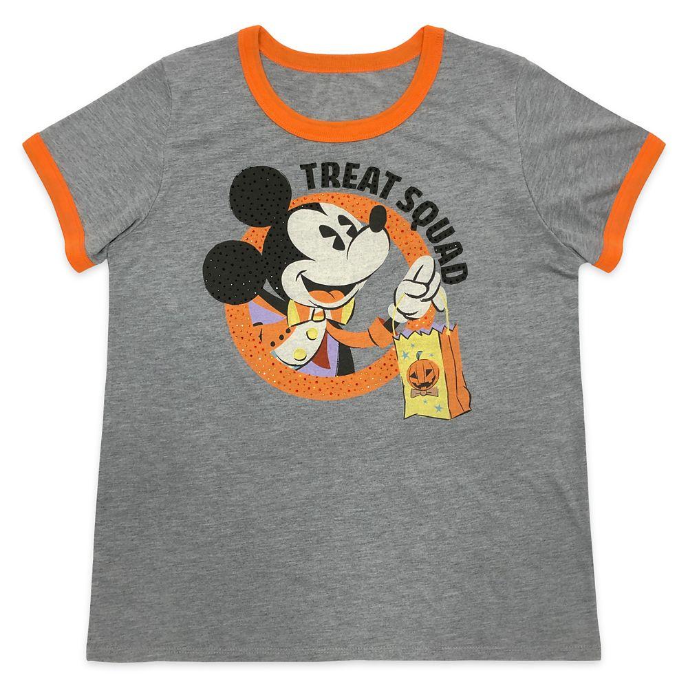 Mickey Mouse Halloween Ringer T-Shirt for Women