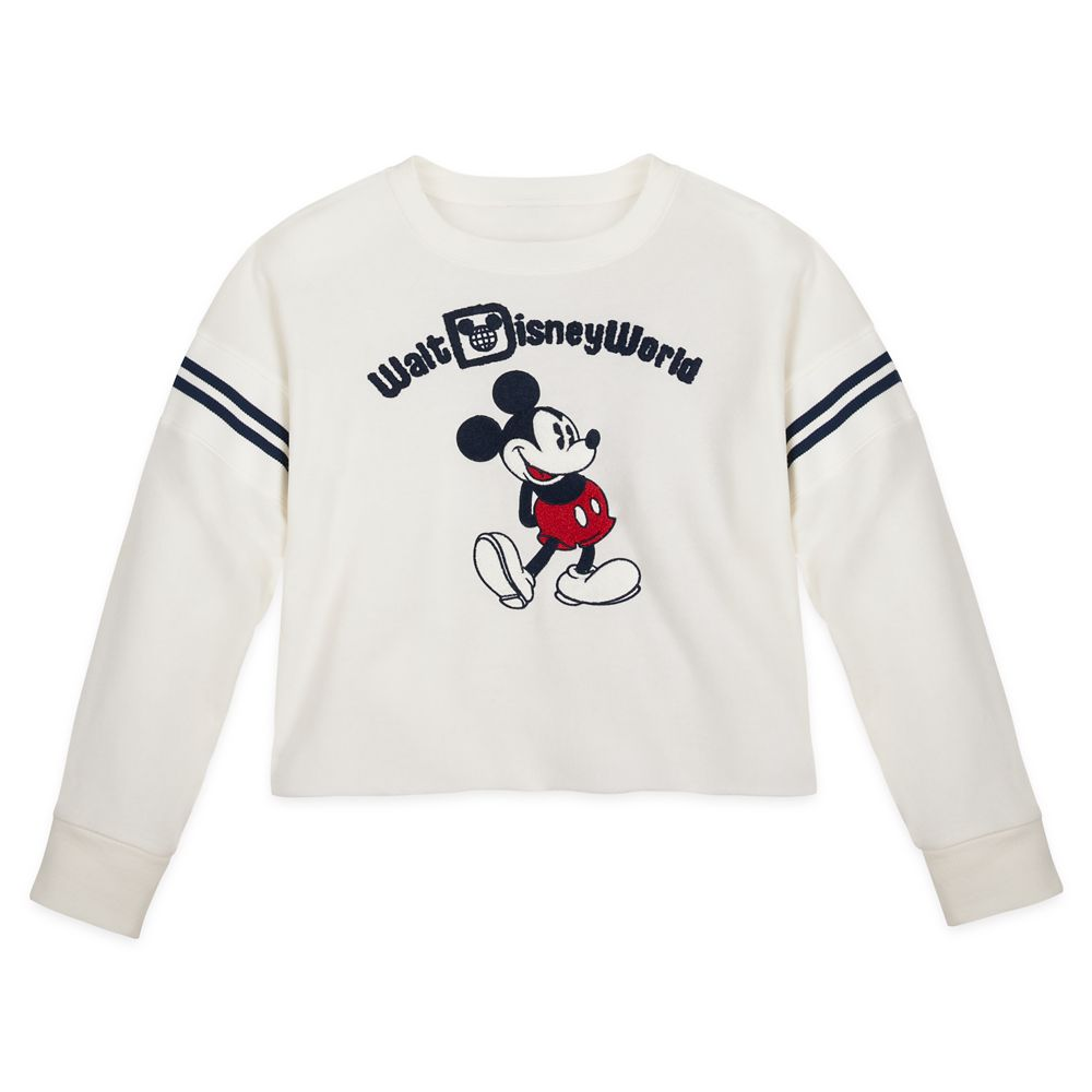 Mickey Mouse Cropped Pullover for Women – Walt Disney World – White