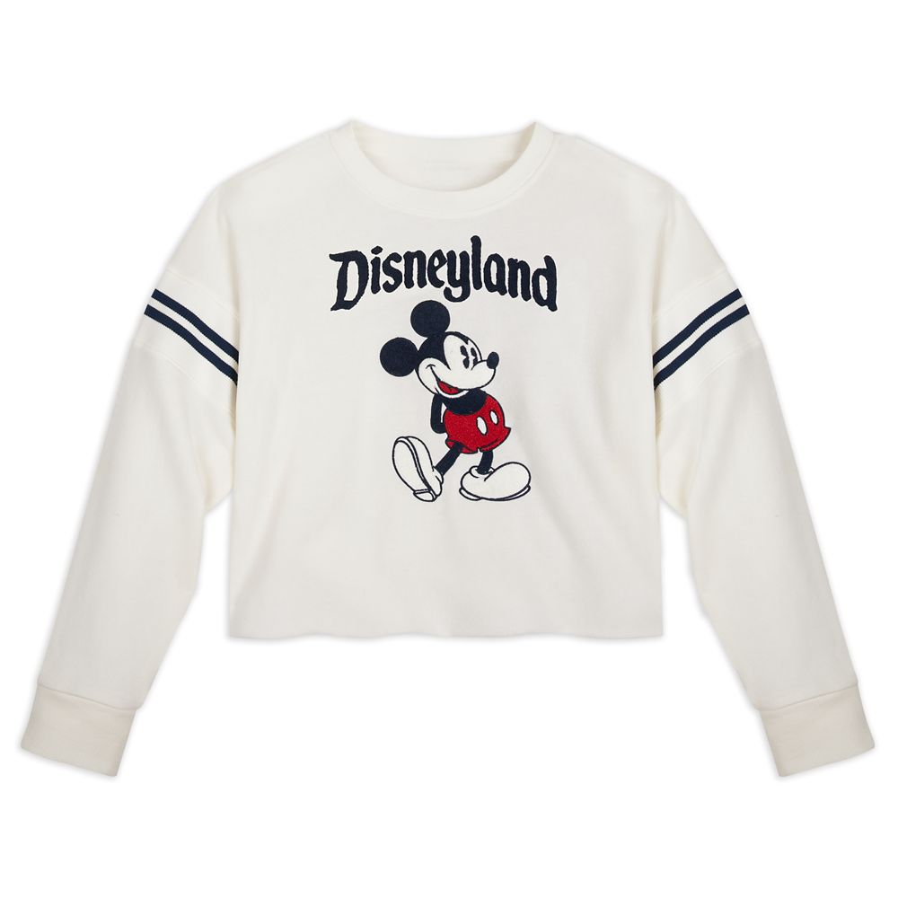 Mickey Mouse Cropped Pullover for Women – Disneyland – White