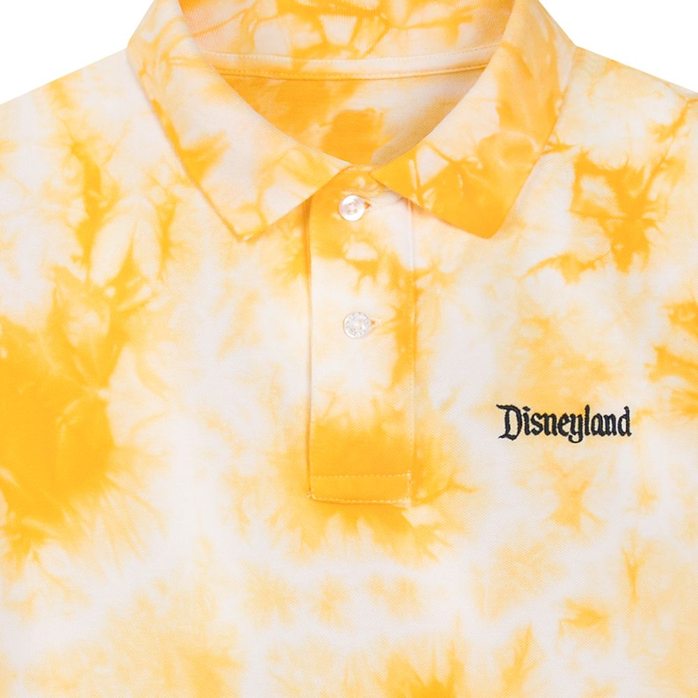 Disneyland Tie-Dye Polo Shirt for Men – Slim Fit – Yellow