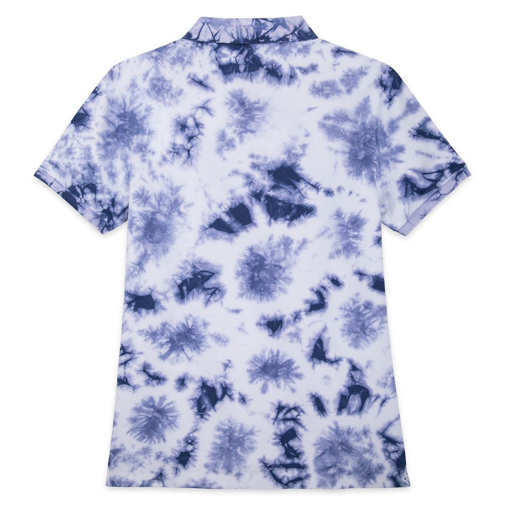 Disneyland Tie-Dye Polo Shirt for Men – Slim Fit – Blue