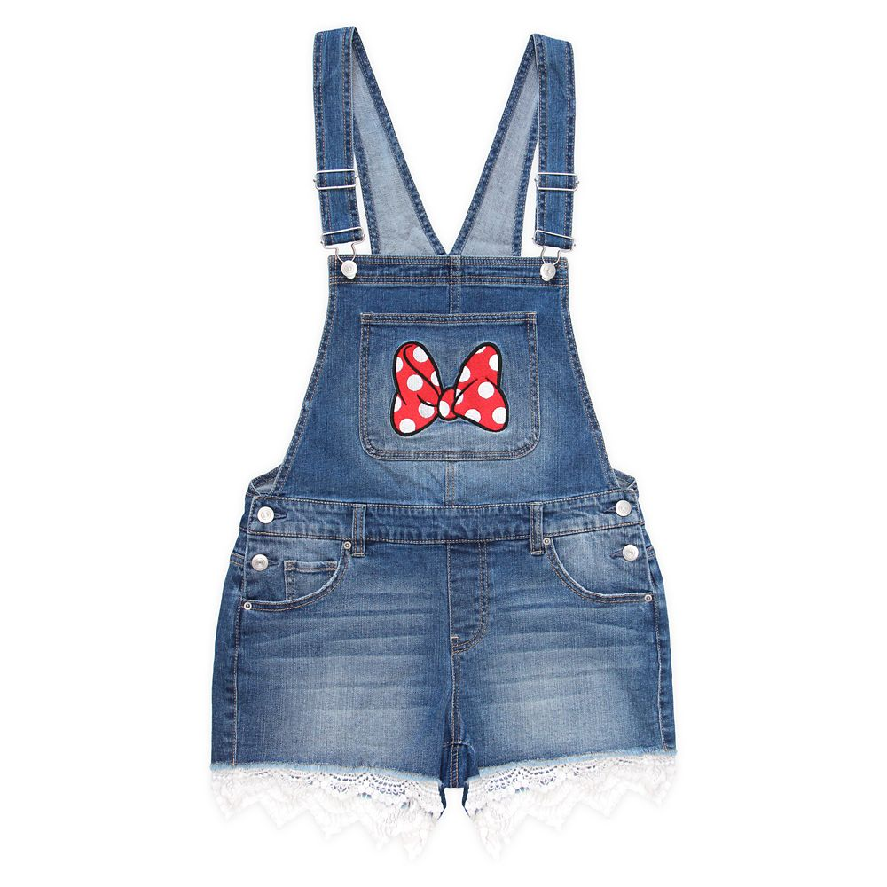 Minnie Mouse Overall Shorts for Juniors