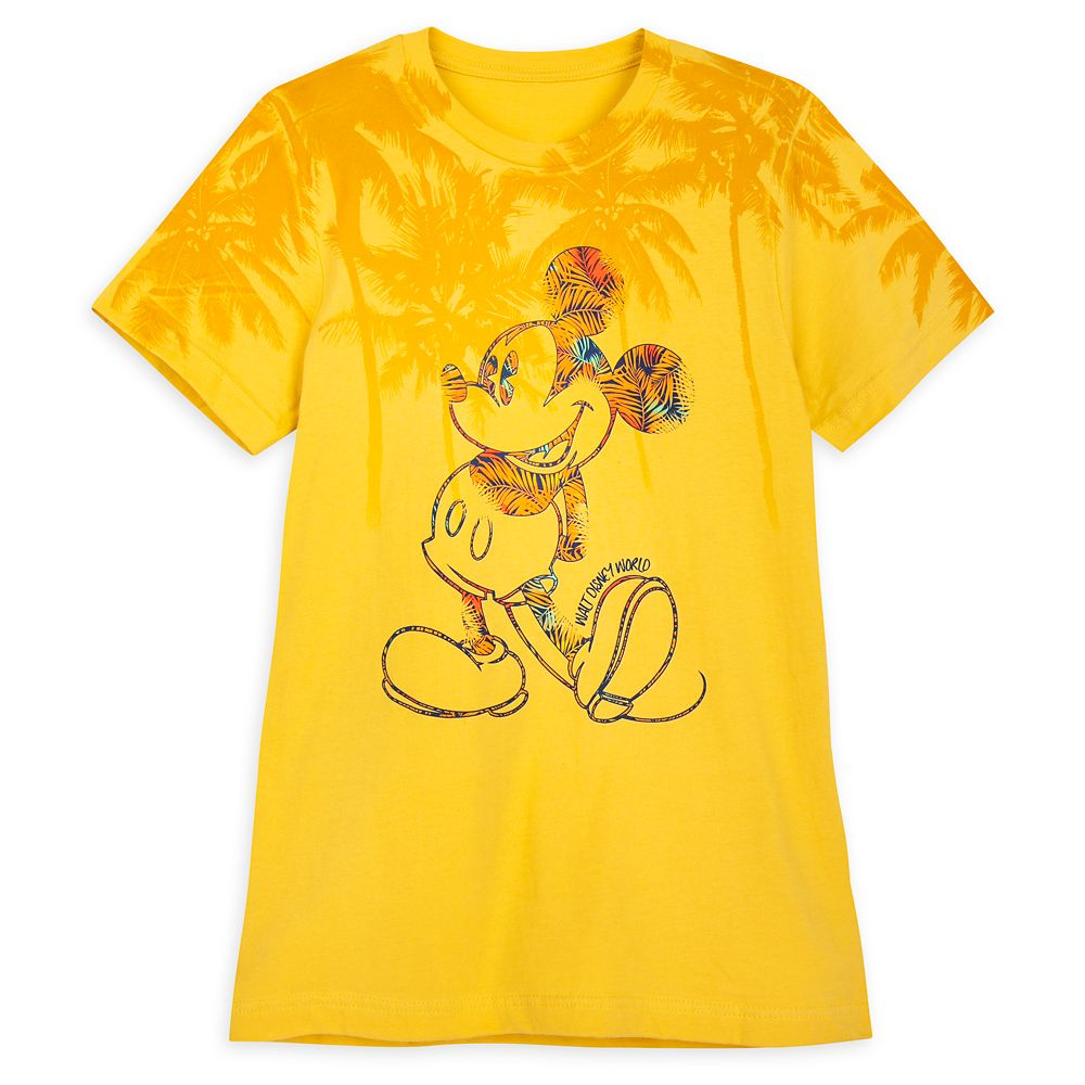 Mickey Mouse Tropical T-Shirt for Adults – Walt Disney World – Yellow