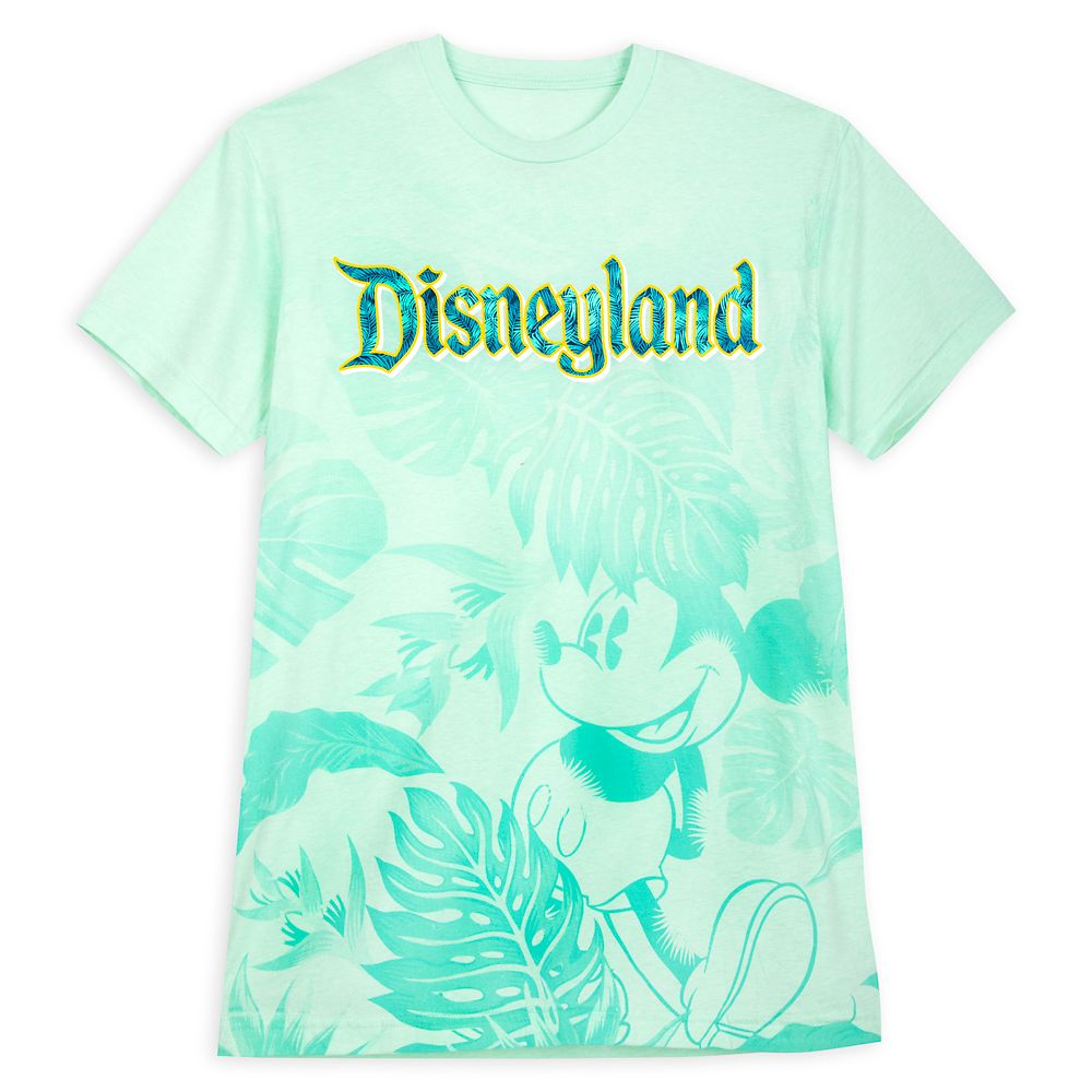 Mickey Mouse Tropical T-Shirt for Adults – Disneyland – Aqua