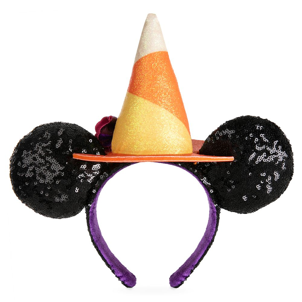 Minnie Mouse Halloween Witch Sequined Ear Headband