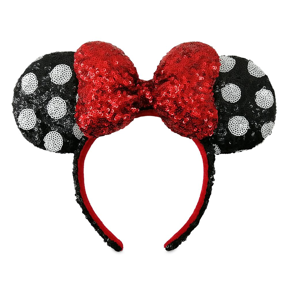 Minnie Mouse Sequined Polka Dot Ear Headband
