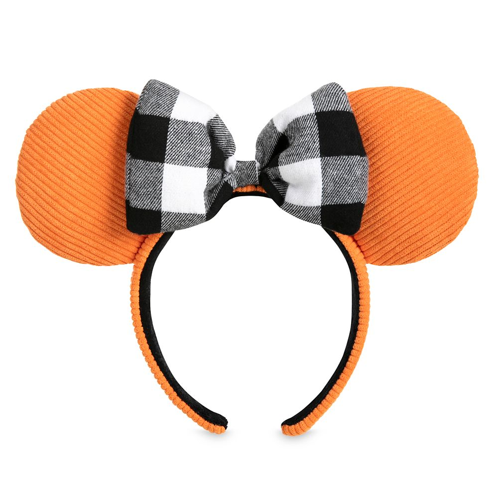Minnie Mouse Ear Headband – Orange Corduroy