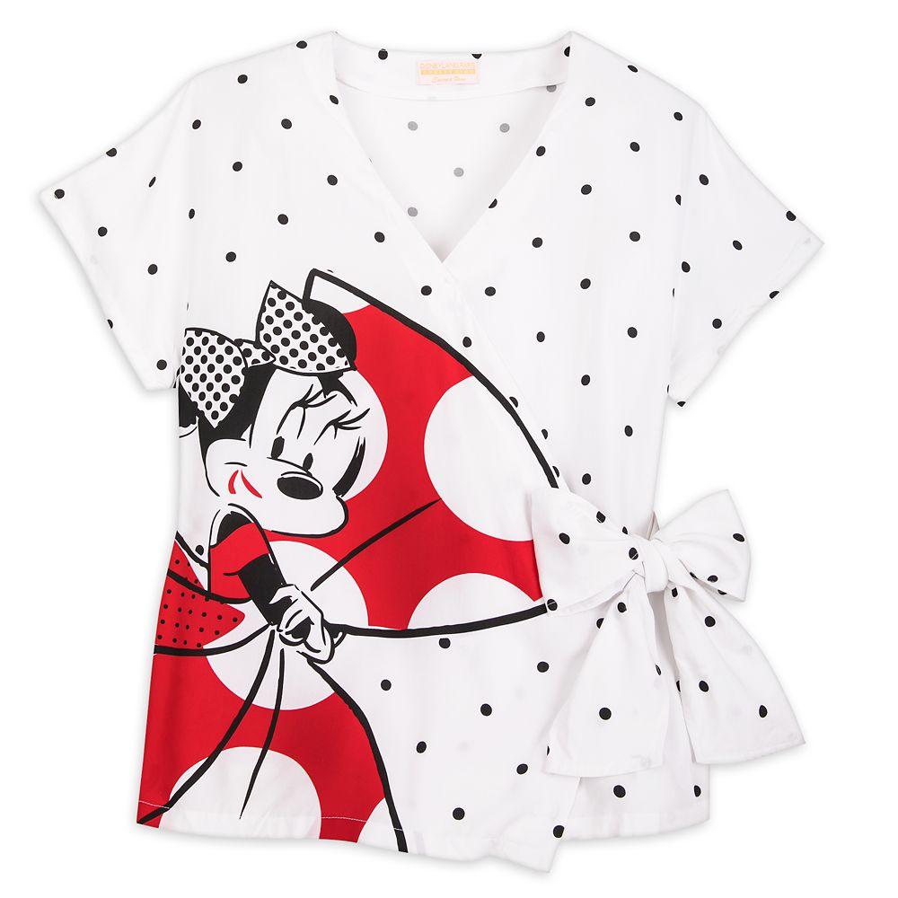Minnie Mouse Disneyland Paris Side Tie Top for Women