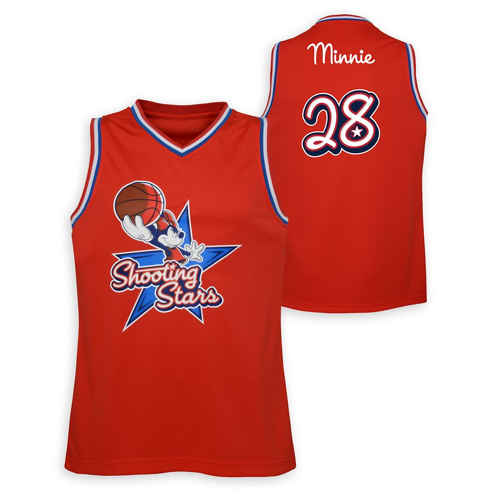 Minnie Mouse Shooting Stars Basketball Jersey for Adults – NBA Experience