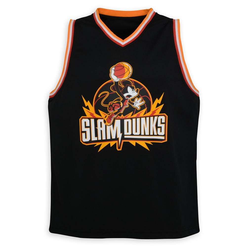 Mickey Mouse Slam Dunks Basketball Jersey for Adults – NBA Experience