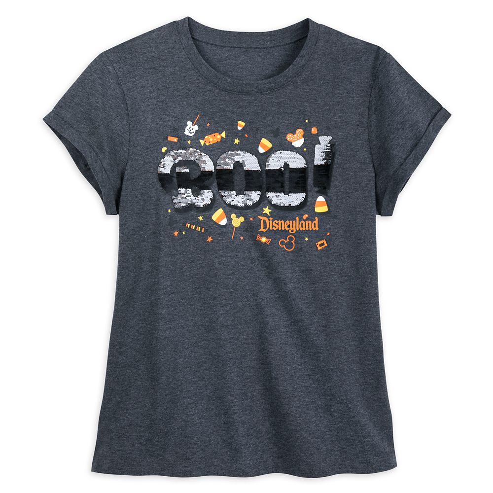 Disneyland Halloween Reversible Sequin T-Shirt for Women