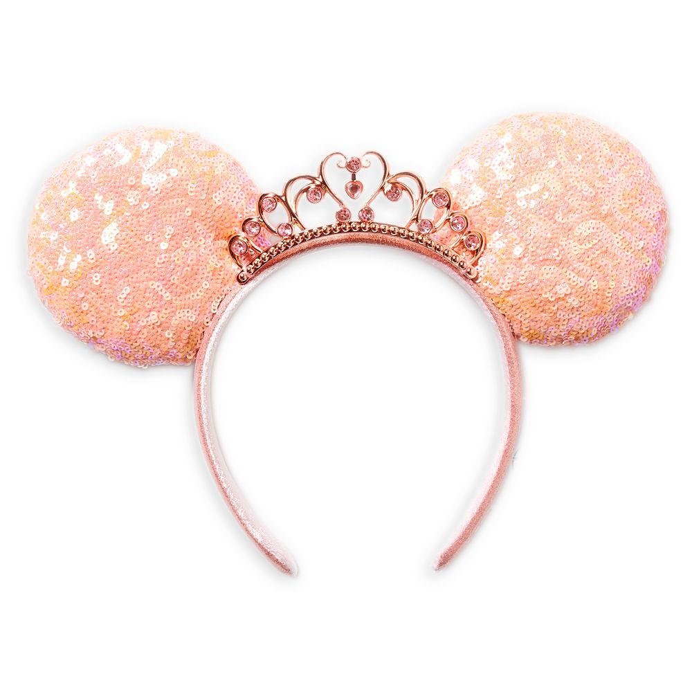Disney Princess Sequined Ear Headband – Coral