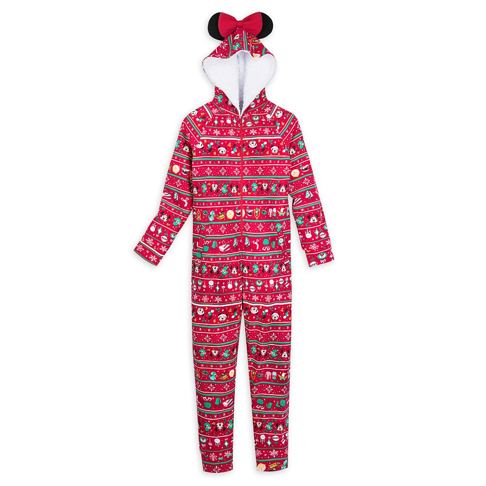 Minnie Mouse Holiday Bodysuit Pajama for Women