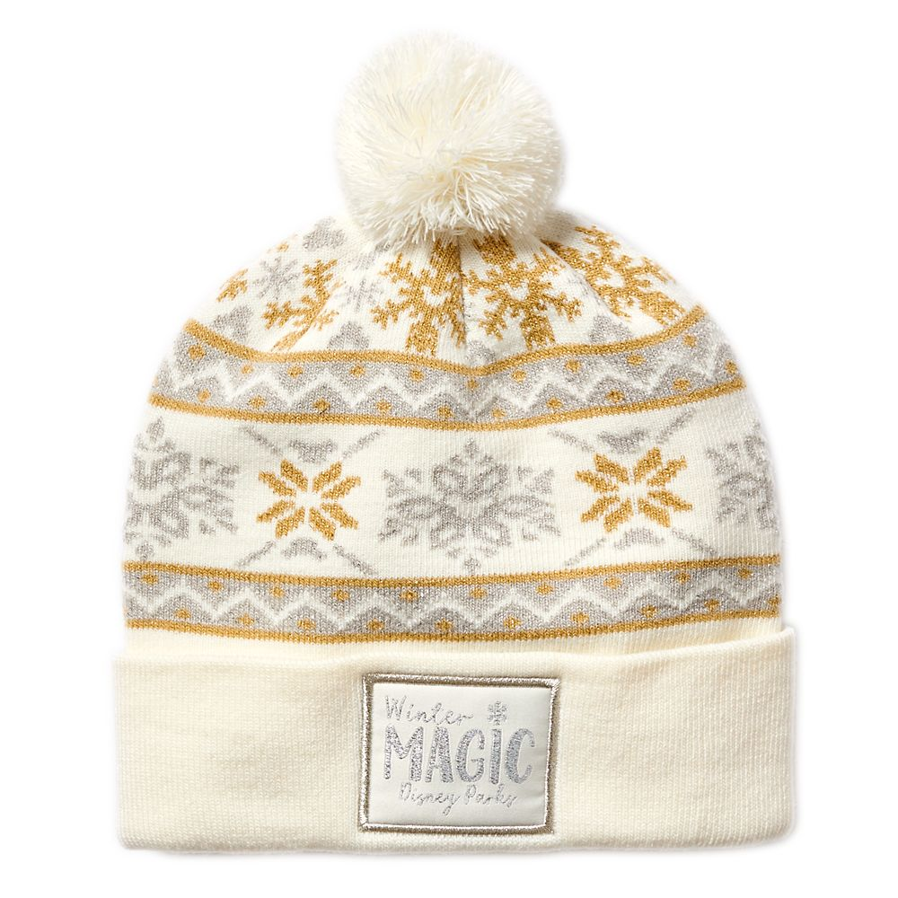 Disney Parks Silver and Gold Knit Beanie for Adults