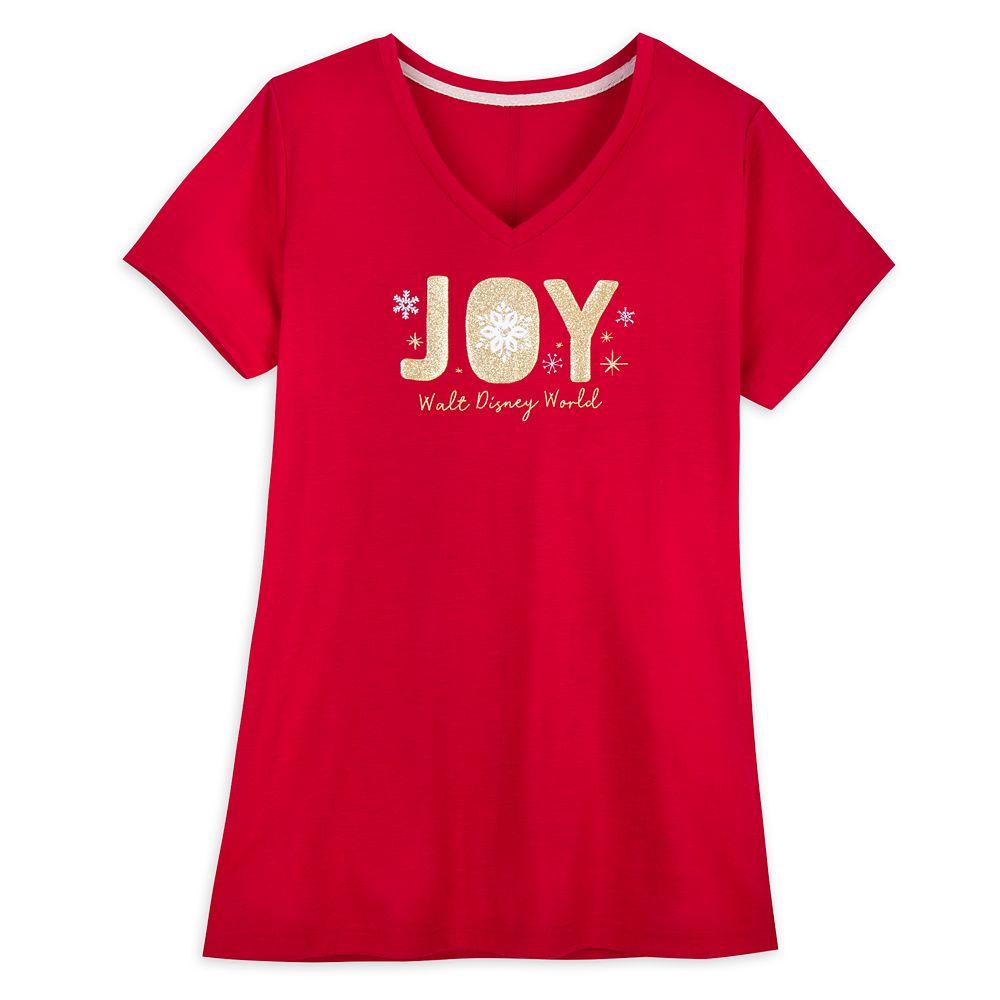 Walt Disney World ''Joy'' Holiday T-Shirt for Women