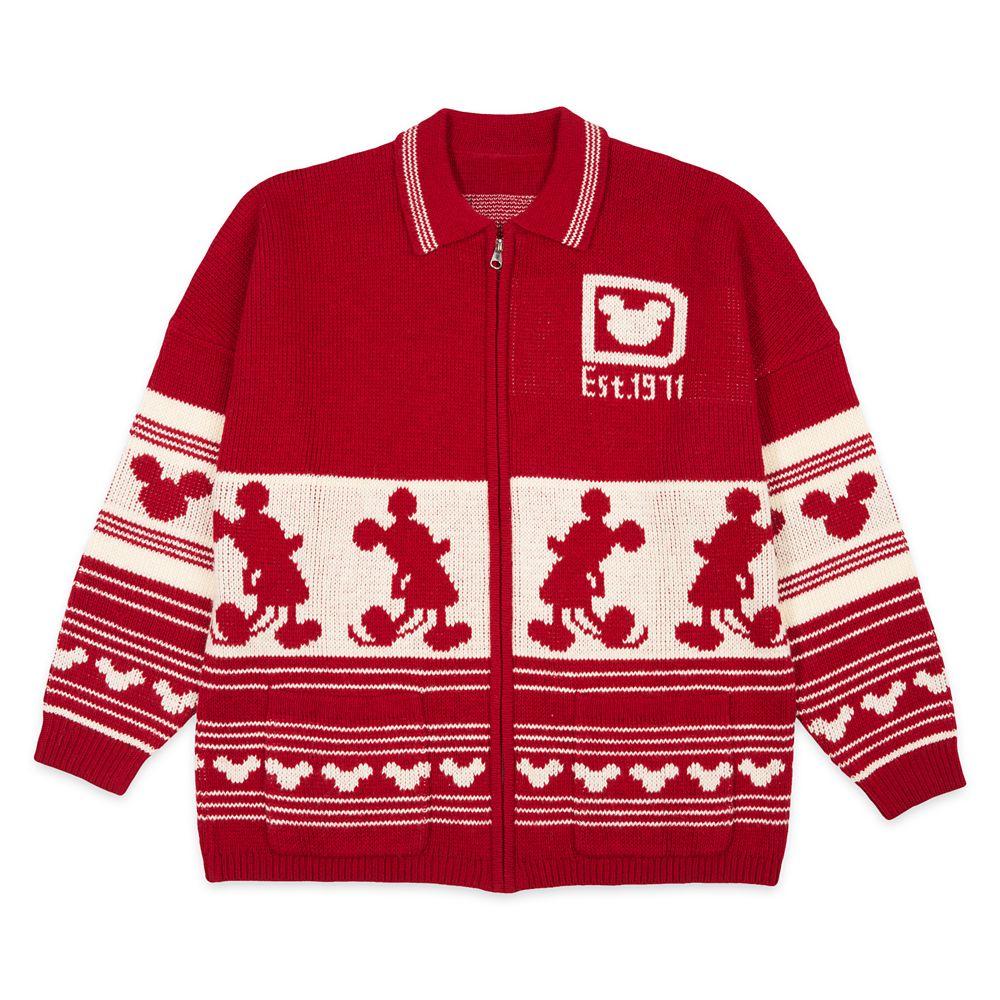 Walt Disney World Holiday Spirit Jersey Cardigan Sweater for Adults