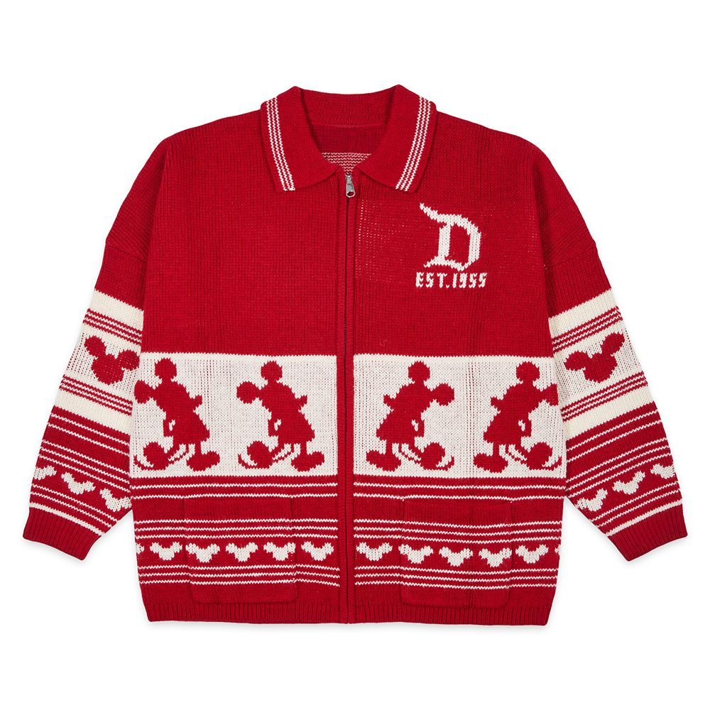 Disneyland Holiday Spirit Jersey Cardigan Sweater for Adults