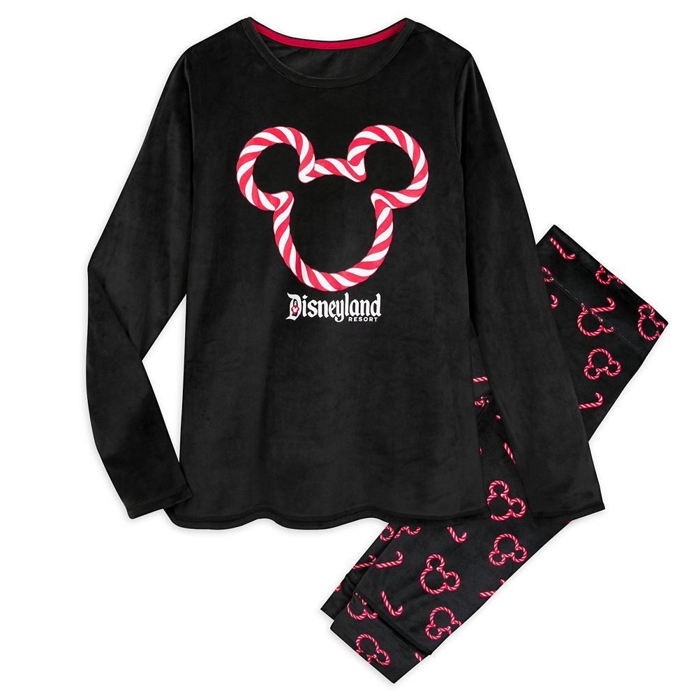 Mickey Mouse Holiday Velour Pajama Set for Women – Disneyland