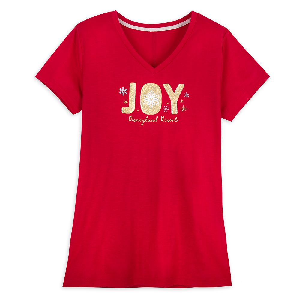 Disneyland ''Joy'' Holiday T-Shirt for Women