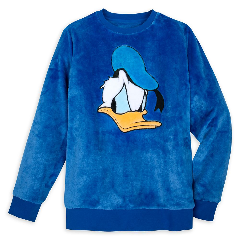 Donald Duck Plush Fleece Pullover for Adults