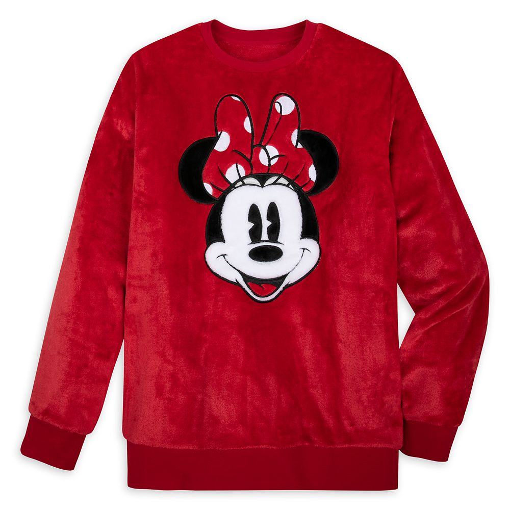 Minnie Mouse Plush Fleece Pullover for Adults