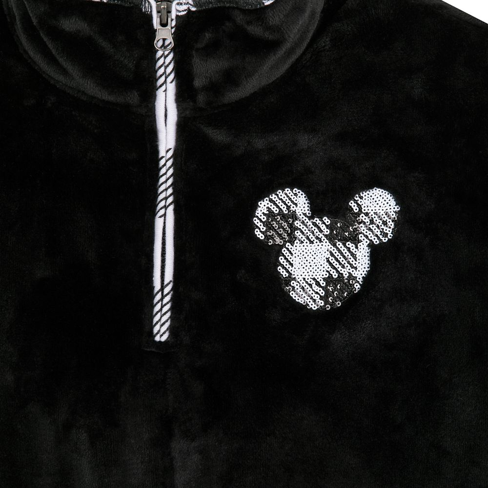 Mickey Mouse Sequin Icon Velvet Pullover for Women