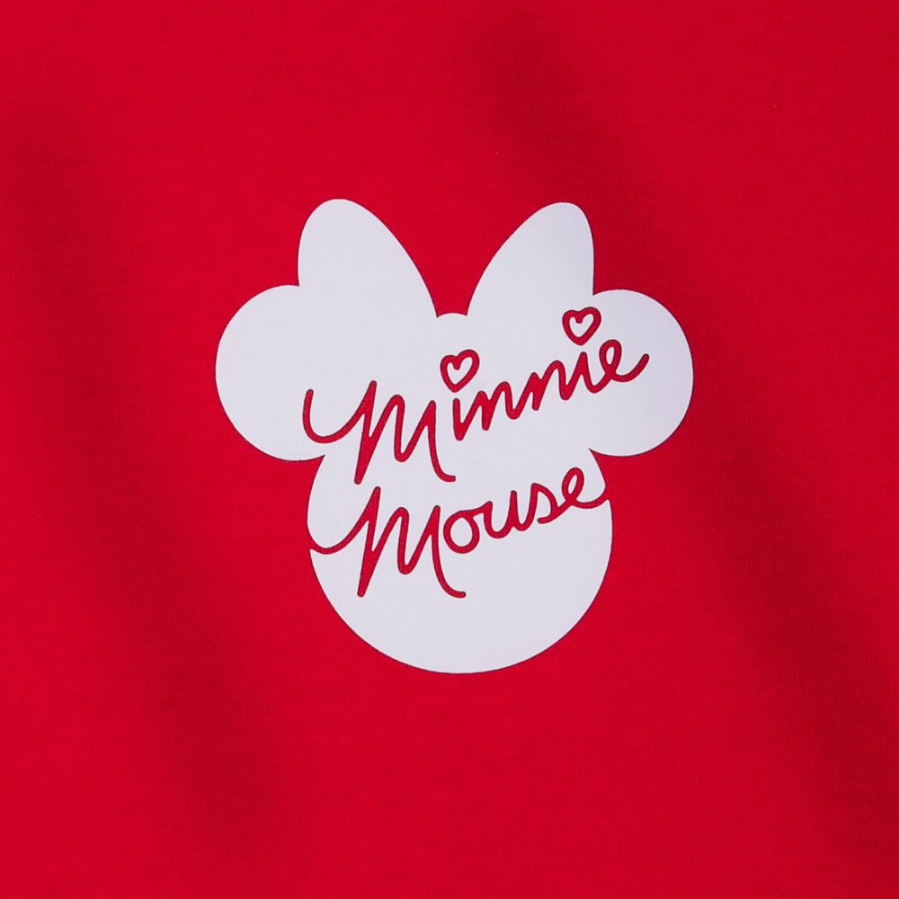 Minnie Mouse Silver Icon Pullover Sweatshirt for Women