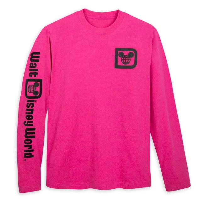 Walt Disney World Logo Long Sleeve T-Shirt for Adults – Raspberry