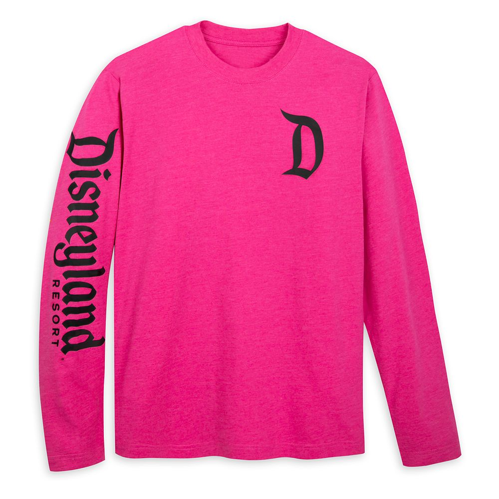 Disneyland Logo Long Sleeve T-Shirt for Adults – Raspberry
