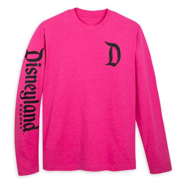 Disneyland Logo Long Sleeve T-Shirt for Adults – Raspberry