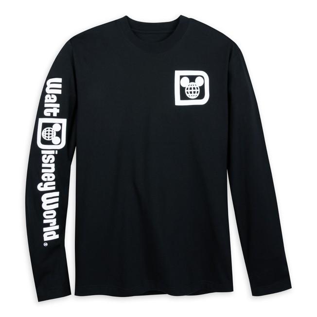 Walt Disney World Logo Long Sleeve T-Shirt for Adults – Black