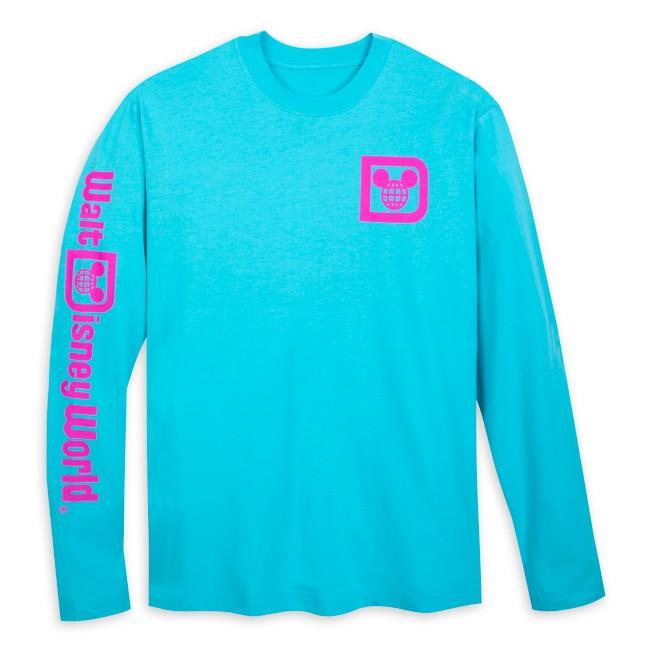 Walt Disney World Logo Long Sleeve T-Shirt for Adults – Blue